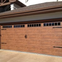 Martin Cornerstone Walnut Short Grooved Panel With Canterbury Windows & Black Carriage House Hardware
