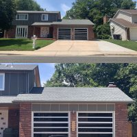 Custom glass garage doors installed in Lakewood